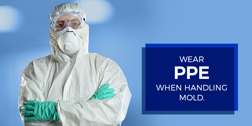 wear ppe when handling mold
