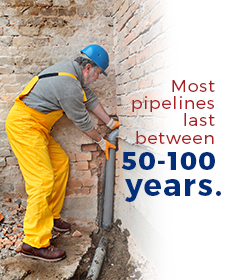 pipelines last between 50-100 years