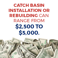 catch basin install or rebuild costs
