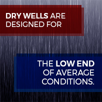 dry wells are designed for low end conditions