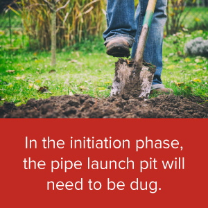 The pipe launch pit needs to be dug