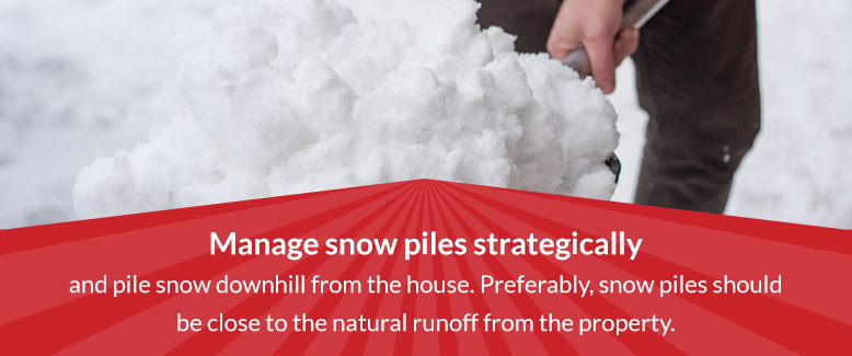 Manage snow piles strategically