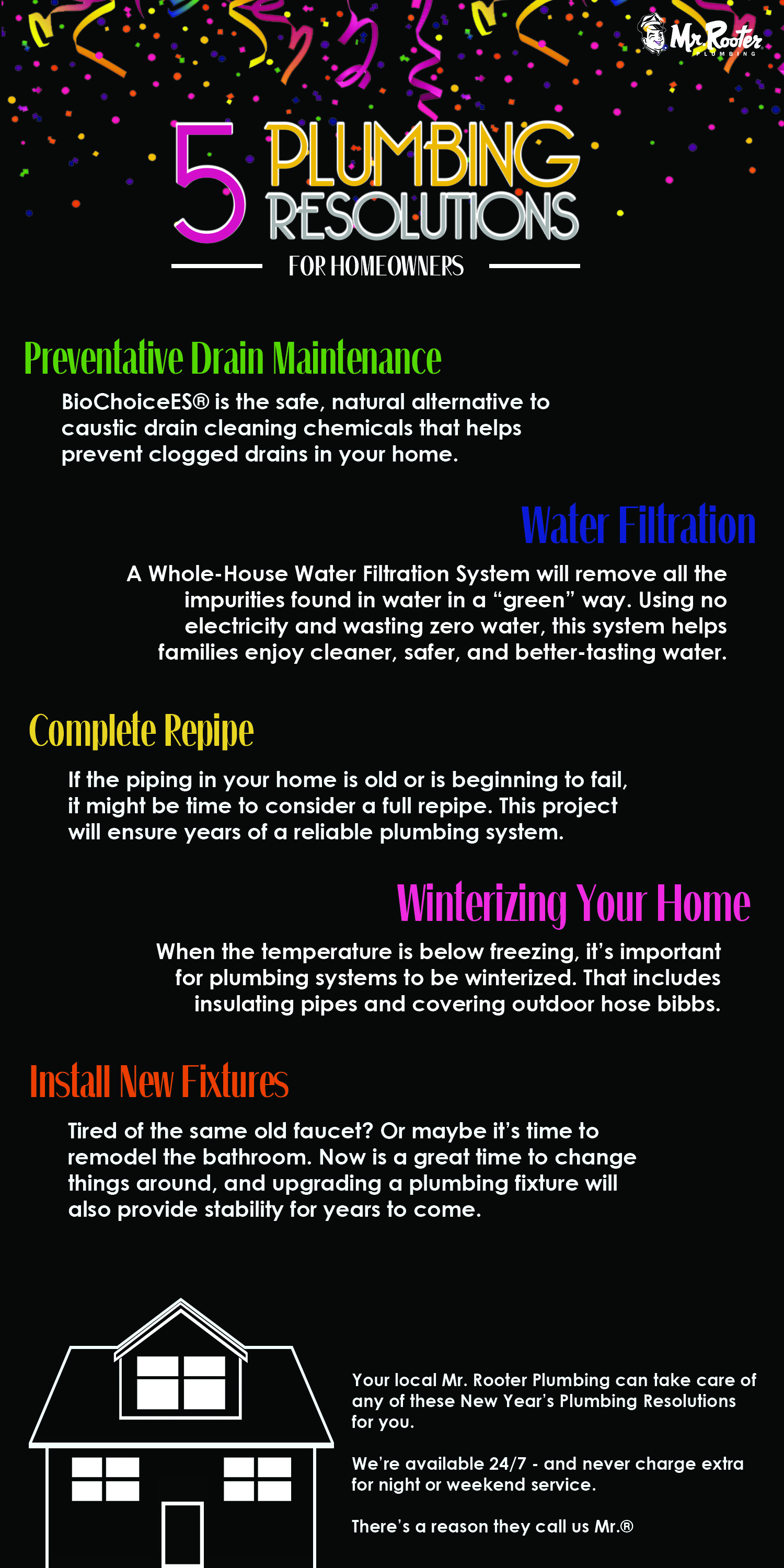 5 New Year's Resolution Plumbing Projects infographic