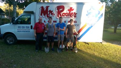 Mr. Rooter plumbers and his sons