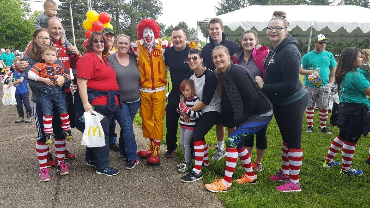 RMHC group photo with Ronald McDonald