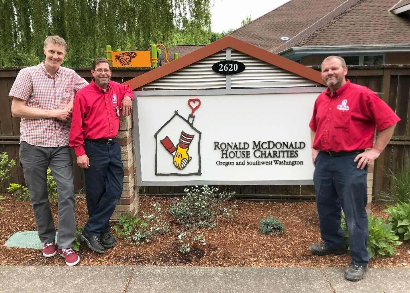 RMHC Director of Building Operations with Mr. Rooter Plumbing employees