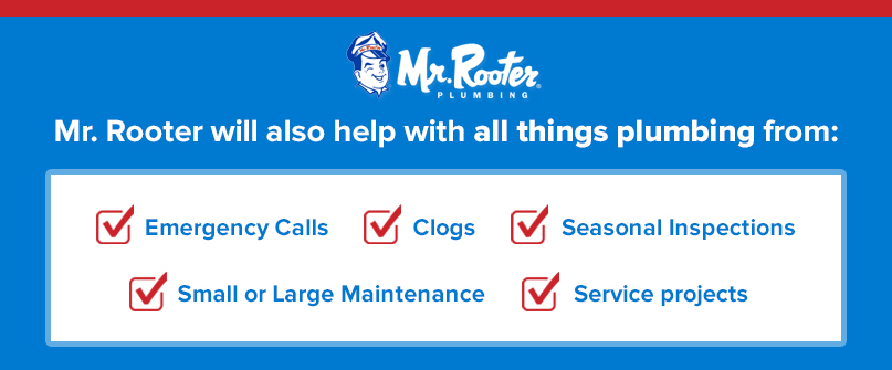 Mr. Rooter will help with all things plumbing