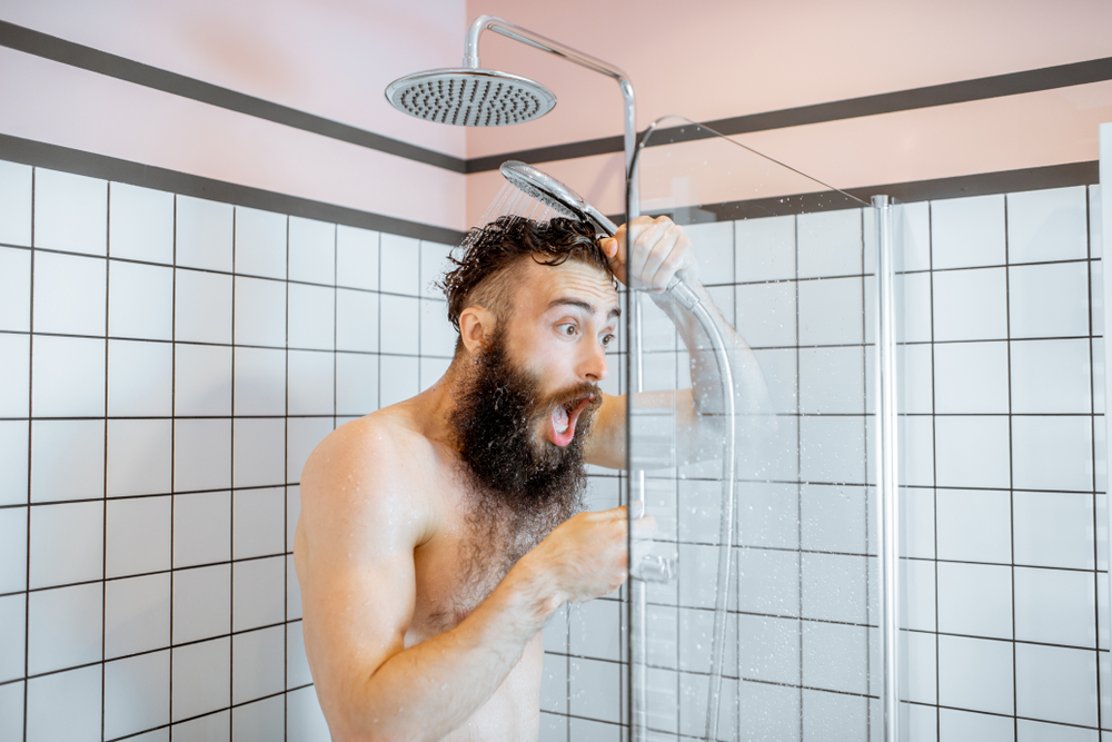 Man Shocked by Cold Shower