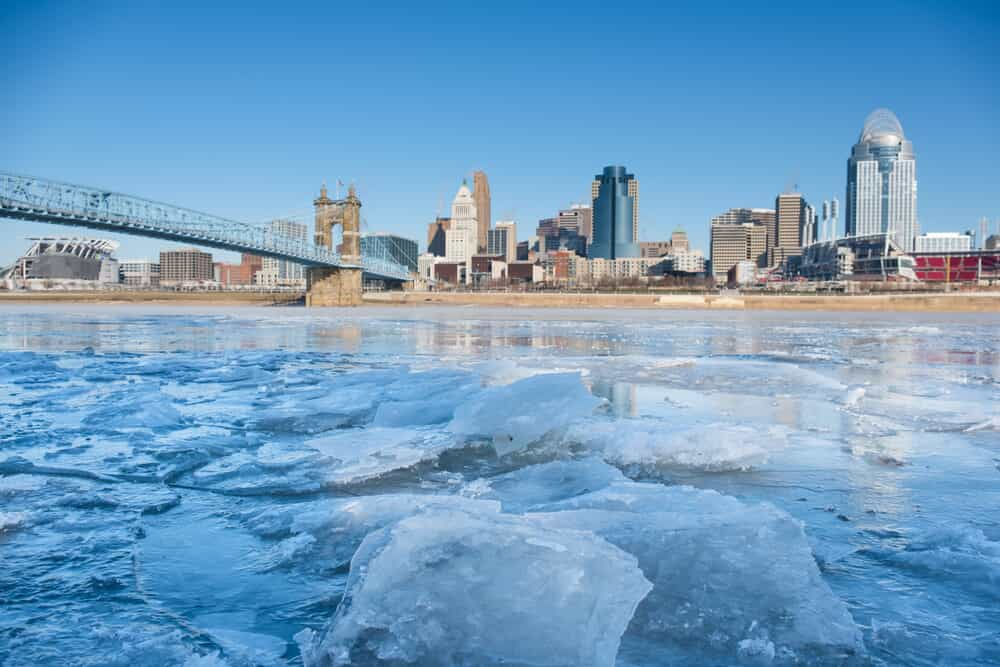 Cincinnati in Winter